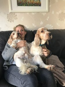 Archie and Dexter with Clara from Italy