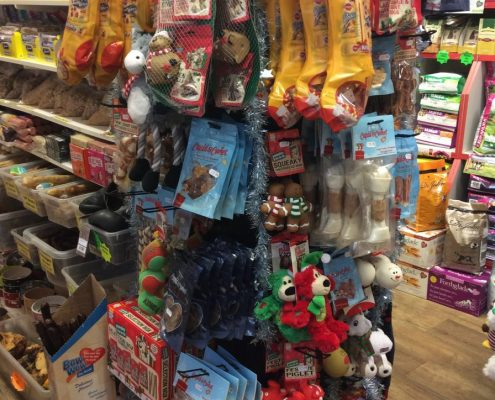 Christmas products for dogs.