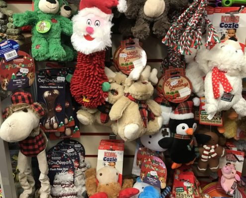 Dog Christmas toys at The Pet Shop Ripon