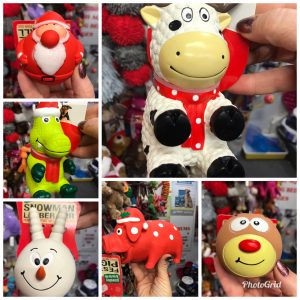Squeaky Christmas dog toys