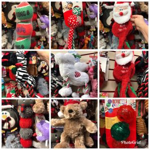 Christmas toys at the Pet Shop Ripon