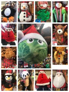 A selection of Christmas toys at The Pet Shop Ripon