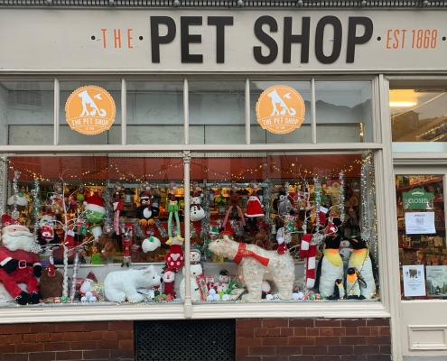 The Pet Shop Ripon Christmas Window Display